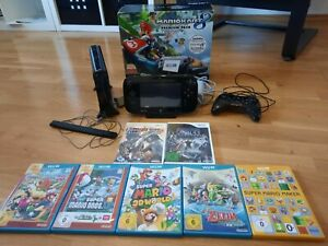 Konsole: Nintendo Wii U Mario Kart 8 Premium Pack inkl. Zubehörpaket, Zelda uvm.