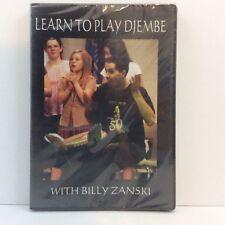 Learn To Play Djembe Instructional DVD by Billy Zanski BRAND NEW SEALED How To