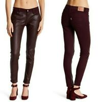 Levi's 535 Super Skinny Faux Leather Front Pant