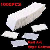 1000 Nail Polish Remover Cleaner Wipes Acrylic UV Gel Tips Cotton Pads Lint
