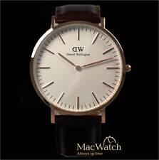 Daniel Wellington Herren Uhr Bristol 0109DW Leder, dunkelbraun, Neu, OVP