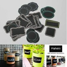 Practical Glass Bottle Chalkboard Marker PVC Kitchen Black Jar Decal Labels