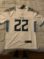 2020 Tennessee Titans #22 Derrick Henry White Jersey Men's Size Small NEW