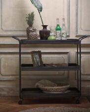 Vintage Industrial Trolley Side Rustic Table Storage Drinks Cart Metal Furniture