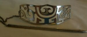 STERLING SILVER HAIR CLIP MADE IN MEXICO