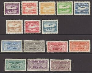 Bolivia - Sc# C27 - C41 MH/MNG ( cpl tiny thins)/ Nice appearance - Lot 0921392