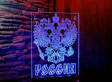Trucker LKW Namensschild  LED Panel  Emblem von Russland Россия 12-24v