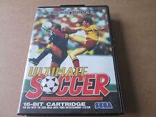 Ultimate Soccer Para Sega Mega Drive-EN CAJA NO MANUAL PAL Reino Unido ex condición
