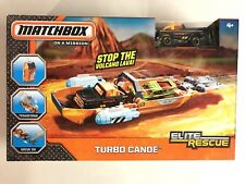 Matchbox Elite Rescue Turbo Canoe Truck Vehicle Mattel Toy Play Set New