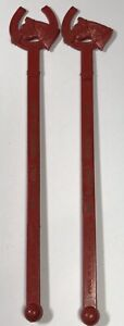 2 Vintage BOOT & SADDLE Webster Hall Hotel Swizzle Stick HORSE HEAD Shape Sticks