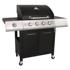 Charles Bentley 5 Burner Premium Gas BBQ (4 x Burner + 1 Side Burner) Black