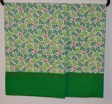 Christmas Pillowcases 2 Handmade standard queen Cotton New, Holly Berries