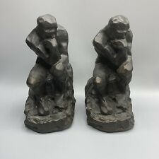 """Pair of Rodin's """" The Thinker """" Bookends"""