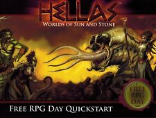 """Hellas: Worlds of Sun and Stone- Free RPG Day Quickstart"" 2015 promo book OoP"