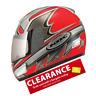 KBC TK-8 Slick Red Motorcycle Motorbike full face crash helmet | CLEARANCE