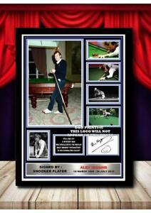(#372) alex higgins signed a4 photo/framed/unframed (reprint) great gift @@@@@