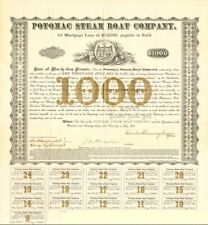 Potomac Steam Boat Company - $1,000 - Bond