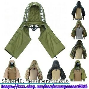 Tactical Camouflage Ghillie Suits , Only Sleeve with Hooded , For Hunting Sniper