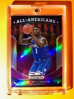 Zion Williamson PURPLE PANINI PRIZM REFRACTOR ROOKIE DRAFT PICKS ALL AMERICANS