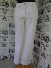 ⭐ Ladies Together @ Kaleidoscope New White Embroidered Cropped Jeans Size 12