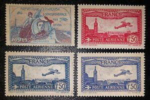 France:1930 Classic MLH Airmail Guynemer & Plane over Marseille, Beautiful sound