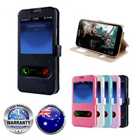 FLIP CASE Wallet PU Leather Window Phone Cover For Samsung Note iPhone 4 5 6 7 +