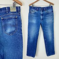 *SLIM FIT* VTG 90s LEE Perfectly Faded Denim Jeans 34x29 ACTUAL Distressed Retro