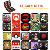 Nintendo Switch Game Cards Case Holder Super Mario Zelda Splatoon