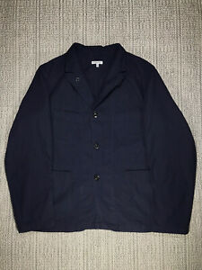 ENGINEERED GARMENTS, BEDFORD JACKET, MEN'S EXTRA LARGE, RIPSTOP, NAVY COTTON