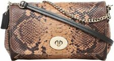 COACH 35555 Python Snake Mini Ruby Leather Crossbody Shoulder Clutch Bag Natural