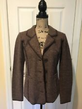 Carole Little Women's Button Front Cardigan Sweater Size Small Brown EUC