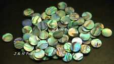 "100+5pcs Free Paua Abalone Dots 6.35mm/1/4"" ,Colorful/Shiny Front, A Grade"