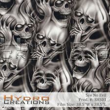 HYDROGRAPHIC FILM FOR HYDRO DIPPING WATER TRANSFER FILM SEE HEAR SPEAK NO EVIL