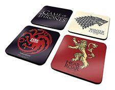 Licencia oficial Game of Thrones posavasos juego 4 pack
