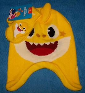 Size   Toddler Boy Baby Shark Trapper Hat & Mitten Set 2-Pc