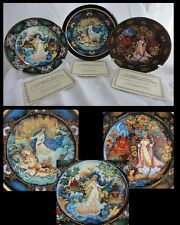 Russian Seasons Series Decorative Plates One Plate Holder Autumn Spring Winter