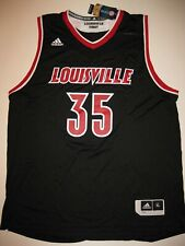 7bec81c3c76 Louisville Cardinals #35 Black Men's Large Adidas Replica Basketball Jersey