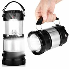 Portable Torch Solar Lantern AC Rechargeable Camping Hiking LED Night Tent Lamp