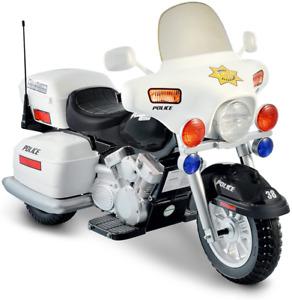 Kids Police Motorcycle Bike Sidewalk Electric Rechargeable 12V New