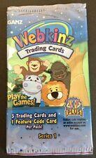 5 Packs of Webkinz Trading Card Series 1