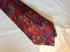 Mens Red Blue Brown Tie Necktie FUSION~ FREE US SHIP (10756)