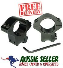 "Universal Standard 1"" Rimfire Rifle Scope Mounts (Set)- OZ SELLER - FREE POSTAGE"