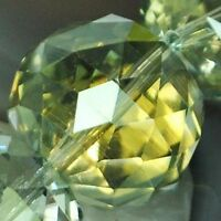 20mm Faceted Yellow Green Quartz Round Beads 6PCS