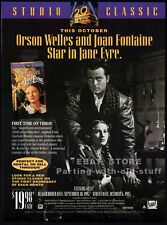 JANE EYRE__Original 1993 Trade Print AD movie promo__ORSON WELLES__JOAN FONTAINE