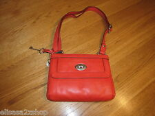 Fossil ZB5559616 Marlow Top Zip Tomato Red Leather purse NWT 148.00*^