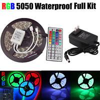 non étanche bande lumière LED 5M RGB 5050 300 SMD 44 Télécommande Clé 12V