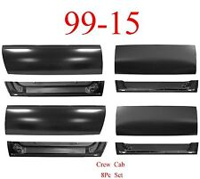 99 15 Crew Cab 8Pc Front & Rear Door Outer & Inner Bottom, Ford Super Duty