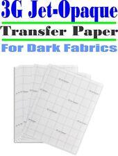 HEAT TRANSFER PAPER 3G JET-OPAQUE IRON ON DARK FABRIC INKJET PAPER 100 PK 11*17