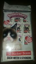 Grumpy cat 12 mini sticker boxes party favors  (VERY LAST SET)