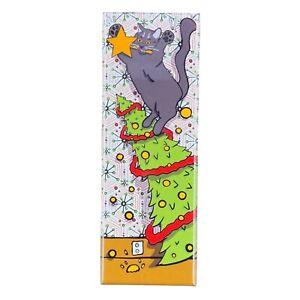Black Cat Christmas Tree Magnet Handmade Holiday Stocking Stuffer Gift